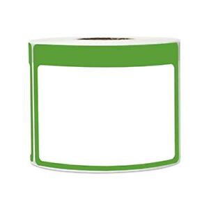 Green Name Tag Sticker Labels Write on Surface Colorful Border 3 5 X 2 25 Inch