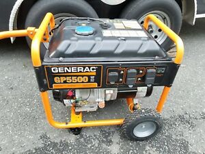 Generac Gp5500 5500 Watt Gasoline Powered Portable Generator Only 30 Hrs