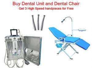 Gu p206s New Portable Dental Unit With Air Compressor Portable Dental Chair 2h
