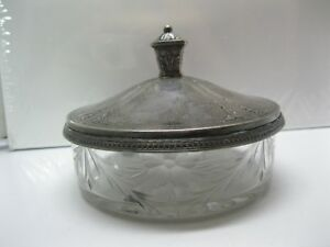 J S Co Sterling 5621 Candy Dish Bowl With Silver Lid