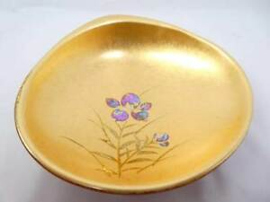 Japanese Traditional Crafts Gold Lacquer Work Hamagurisara Tea Utensils Plate