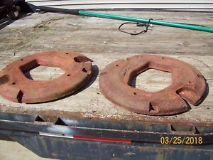 International Harvester Ih Farmall Tractor Rear Wheel Weights