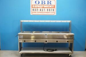 New Randell 5 Well Steam Table With Shelf And Cutting Board Model 3515