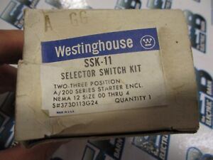 Westinghouse Ssk 11 Selector Switch Kit New
