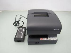 Epson Tm j7100 M184a Pos Receipt Printer W Power Supply No Ink Cartridge