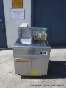 Frymaster Fmp145esc Gas Single 45 Lbs Fryer With Dump Station Filtration System