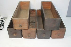 Lot Of 6 Vintage Sewing Machine Drawers