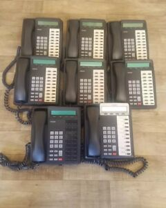 Lot Of 8 Toshiba Dkt 3020 sd Black Office Phones Telephones Tested