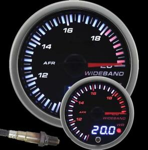 Prosport Universal 60mm Jdm Digital Wideband Kit White Red