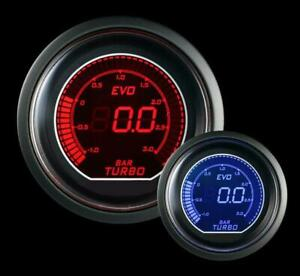 Prosport Universal Evo Metric Series Bar 52mm Boost Gauge 2 To 3 Bar