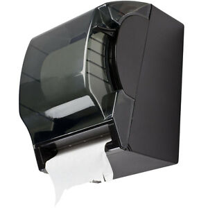 Black Plastic 8 Roll Paper Commercial Towel Dispenser With Lever