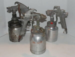 Lot Of 3 vintage Binks Model 17 Craftsman Sears Air Paint Spray Guns