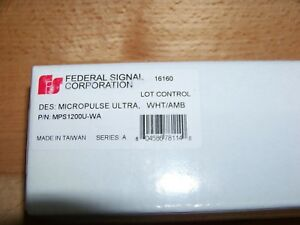 Federal Signal Micropulse Ultra Mps1200 wa 12 Led Light Head