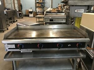 48 Electric Countertop Griddle Starmax Restaurant Kitchen Commercial Flat