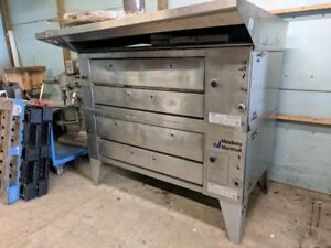Middleby Marshall Natural Gas Double Deck Pizza Oven Xl100 With Hood Stone Brick