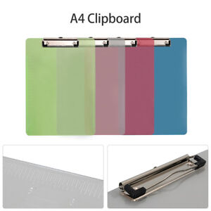 A4 Colour Clipboard Office Document Holder Filing Clip Board Paper Holder New Us