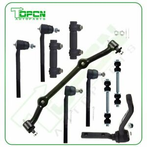 Front Suspension Tie Rod Pitman Idler Arm Kit For 96 05 Chevy Blazer 2wd 10pc