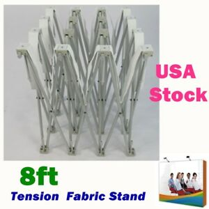 8ft Tension Fabric Pop Up Display Stand Trade Show Backdrop Wall Frame Usa