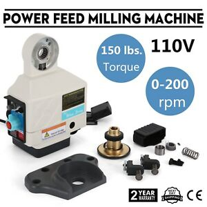 X Axis Power Feed Milling Milling Machine Bridgeport Acer Adjustable Speed