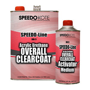 Automotive High Gloss Clear Coat Urethane Smr 21 25 4 1 Gallon Clearcoat Kit