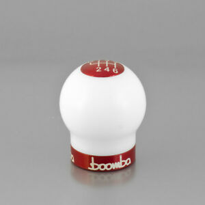 Fiesta St White Round 270 Weighted Shift Knob V2 Red Anodized Collar And Cap