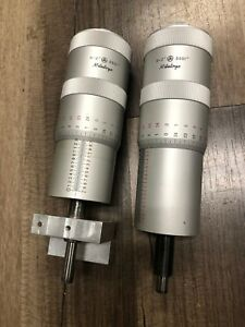 Set Of 2 Used Mitutoyo 152 388a Micrometer Heads 0 2 Range 0001 Graduation
