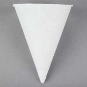 10000 Case Drinking Water Cup 4 Oz White Paper Disposable Snow Cone Rolled Rim