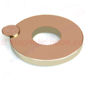 100mm X 10mm Hole 40mm Disc Round Rare Earth Neodymium Magnets N50