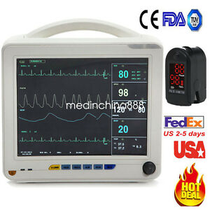 12 Icu Medical 6 parameter Patient Monitor Vital Sign Cardiac System Oximeter