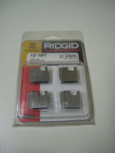 Ridgid 37870 1 2 Npt 14 Tpi Rh Hs Pipe Threading Dies For 00r 0r 111r 12r New