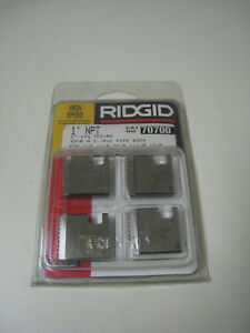 Ridgid 70700 1 Npt 11 1 2 Tpi Rh Hs Pvc Pipe Threading Dies For 00r 12r New
