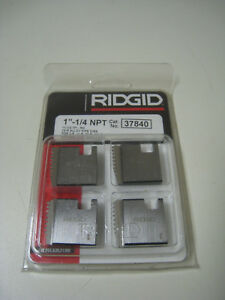 Ridgid 37840 1 1 4 Npt 11 1 2 Tpi Rh Pipe Threading Dies For 11r 00r 12r New