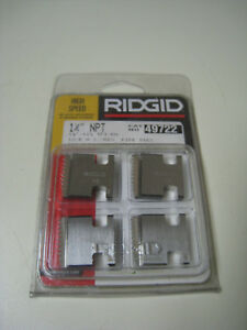 Ridgid 49722 1 1 4 Npt 11 1 2 Tpi Rh Reversible Pipe Threading Dies 00r 12r New