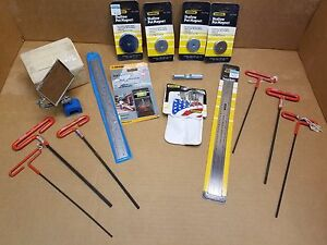 Lot Of Ss Rules Magnetic Base Inspection Mirror Pocket Protector Tool marking