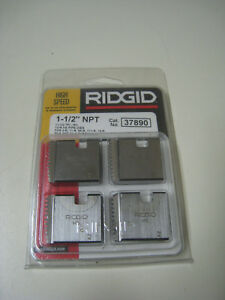 Ridgid 37890 1 1 2 Npt 11 1 2 Tpi Rh Hs Pipe Threading Dies For 00r 12r New