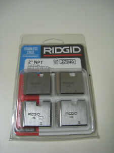 Ridgid 37940 2 Npt 11 1 2 Tpi Rh Stainless Steel Pipe Threading Dies 12r New