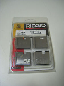 Ridgid 37895 2 Npt 11 1 2 Tpi Rh Hs Pipe Threading Dies For 00r 11r 12r New