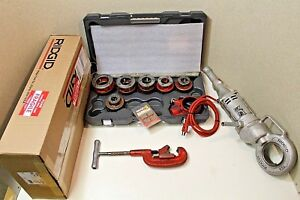 Ridgid 700 Pipe Threader Set With 12r Dies new Plastic Case 100 Tested
