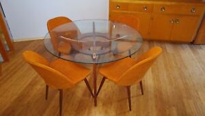 Adrian Pearsall Compass Table And Chair Dining Set Mcm Mid Century Modern Eames