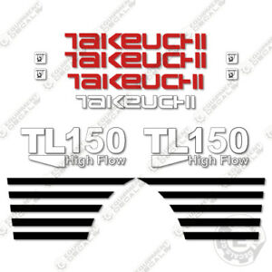 Takeuchi Tl 150 Mini Excavator Decals Equipment Decals Tl150 Tl 150