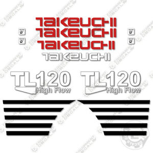Takeuchi Tl 120 Mini Excavator Decals Equipment Decals Tl120 Tl 120