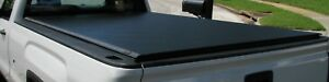 Pre Owned Tonneau 8 Ft Truck Bed Cover Roll Up Black 220 00