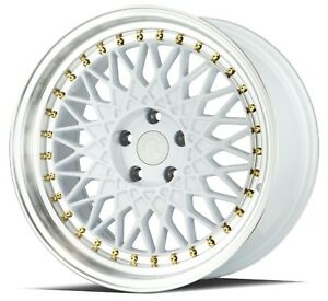 18x9 5 30 Aodhan Ah05 5x114 3 White Wheel Fits Mustang Gt Genesis Coupe Tl Rsx