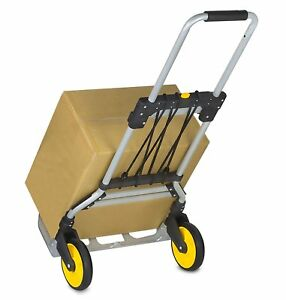 Mount it Folding Hand Truck And Dolly 264 Lb Capacity Heavy duty Luggage