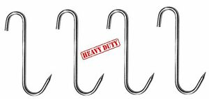 4pc 9 Heavy Duty Thick Alazco Stainless Steel Meat Processing Butcher Hook