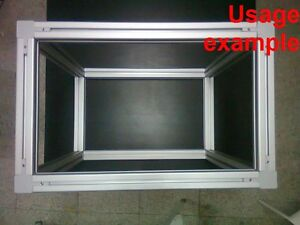 Aluminum T slot 4040 Extruded Profile 40x40 8mm Box Frame Size W750xd750xh750mm