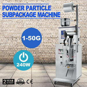 1 50g Automatic Weighing And Filling Machine For Cereal Grains Tea Medicament