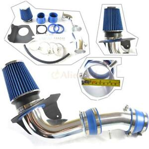 V8 Cold Air Intake Blue High Flow Filter Kit For Ford 1994 1995 Mustang Gt Gts