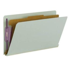 Lot Of 70 Smead 29800 End Tab Classification Folders Legal 4 section Gray green