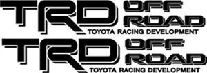 Trd Off Road Decals Toyota Tacoma Tundra Racing Vinyl Sticker Set You Get 2